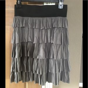 Gray pleated skirt, size large Charlotte Russe